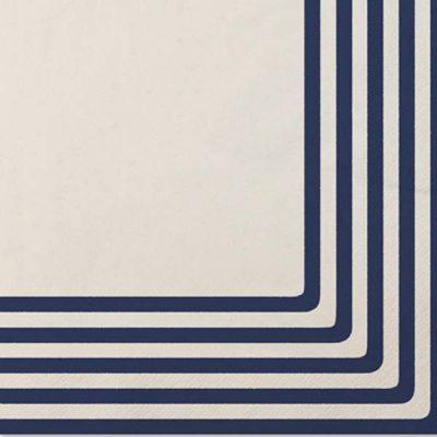 Χαρτοπετσέτες άσπρο & μπλε ριγέ (20 τεμ)