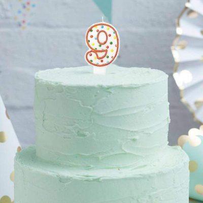 Κεράκι τούρτας Πουά 9