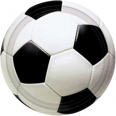 Πιάτα πάρτυ μεγάλα μπάλα Ποδοσφαίρου (8 τεμ)