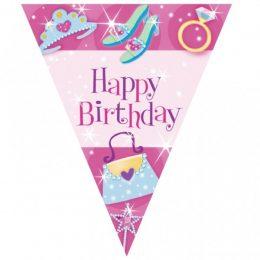 Σημαιάκια τριγωνικά Happy Birthday Princess