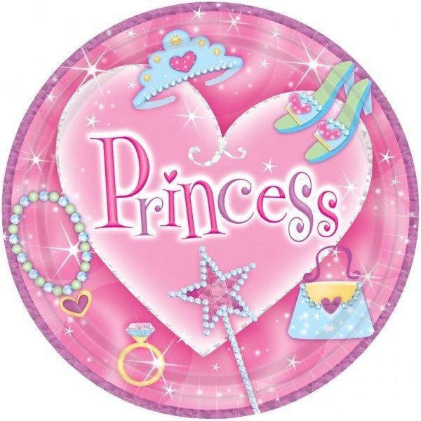 Πιάτα πάρτυ μεγάλα princess (8 τεμ)