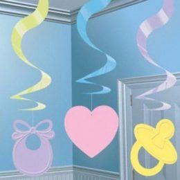Διακοσμητικά οροφής Baby Shower (5 τεμ)