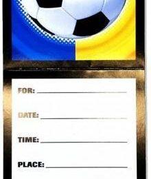 Προσκλητήρια Ποδόσφαιρο με φάκελο