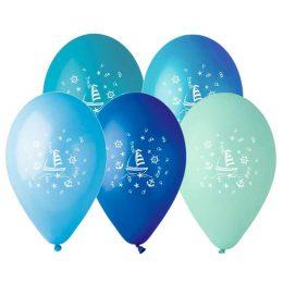"""12"""" Μπαλόνι τυπωμένο Ναυτικό"""