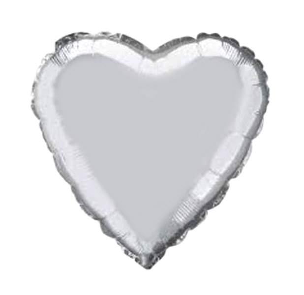 """Μπαλόνι καρδια 18"""" Ασημί"""
