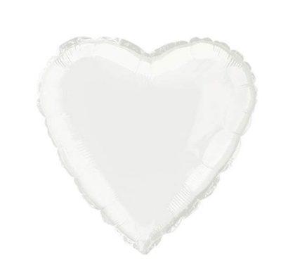 """Μπαλόνι καρδια 18"""" Ασπρη"""