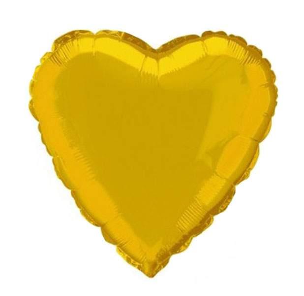 """Μπαλόνι καρδια 18"""" Χρυσή"""