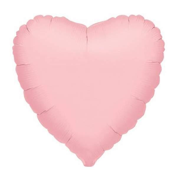 """Μπαλόνι Ματ ροζ καρδιά 18"""""""