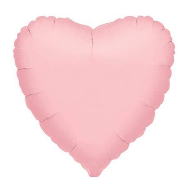 Μπαλόνι Ματ ροζ καρδιά 18″