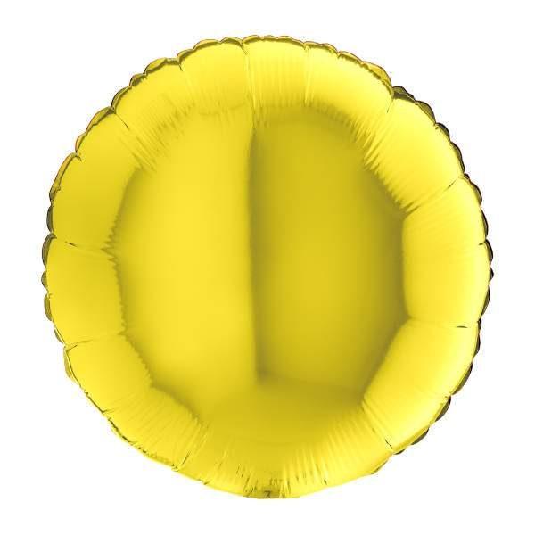 """Μπαλόνι κίτρινο στρογγυλό 18"""""""
