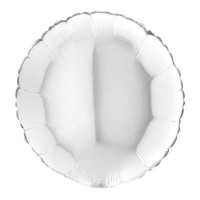 Μπαλόνι άσπρο στρογγυλό 18''