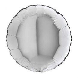 Μπαλόνι ασημί στρογγυλό 18″