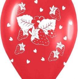 12″ Μπαλόνι τυπωμένο Κόκκινο φράουλα