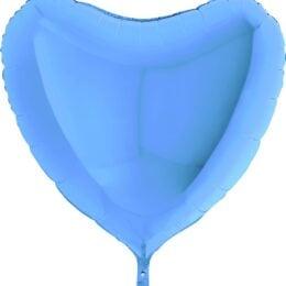 Μπαλόνι γαλάζια καρδιά 36″