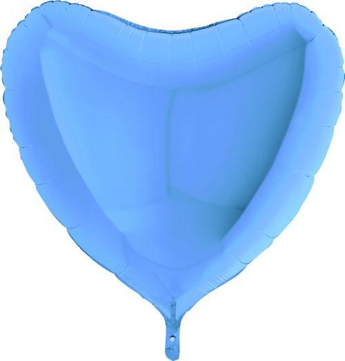 """Μπαλόνι γαλάζια καρδιά 36"""""""