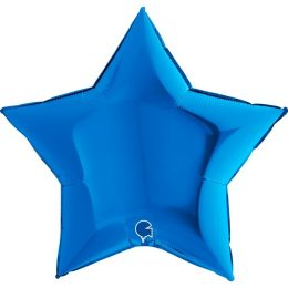 Μπαλόνι αστέρι μπλε 36″