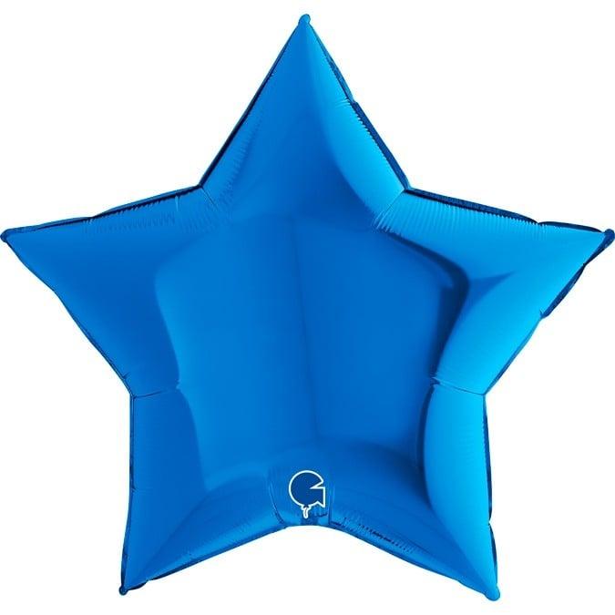 """Μπαλόνι αστέρι μπλε 36"""""""