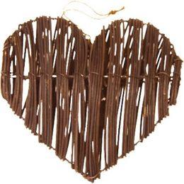 Διακοσμητική ξύλινη καρδιά (2 τεμ)