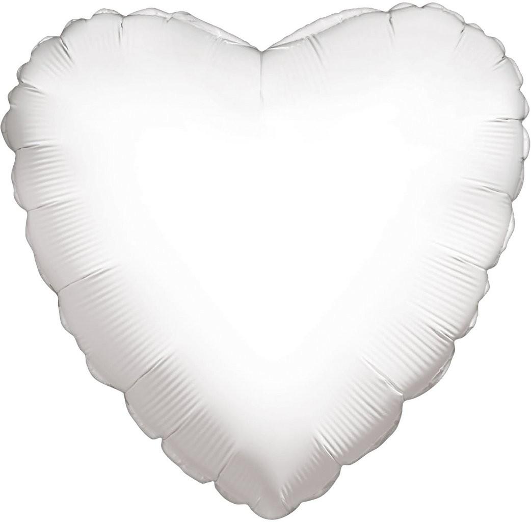 """Μπαλόνι άσπρη καρδιά 18"""""""