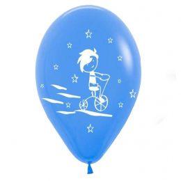 """12"""" Μπαλόνι τυπωμένο Αγοράκι- ποδήλατο"""