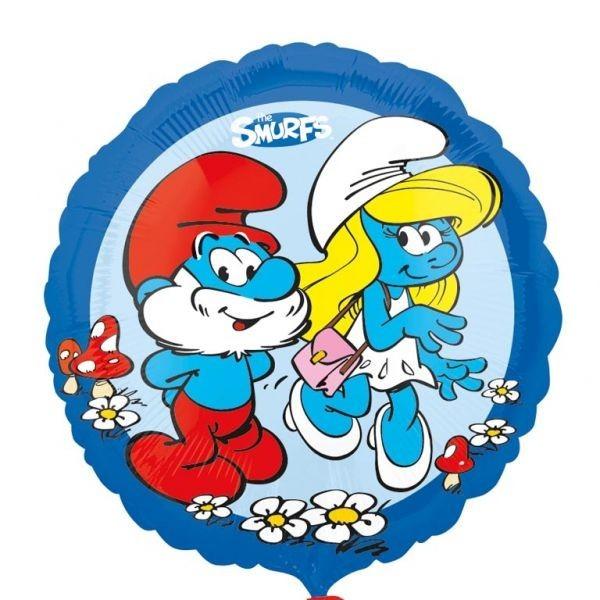 Μπαλόνι Μπαμπαστρούμφ & Στρουμφίτα μπλε 45 εκ