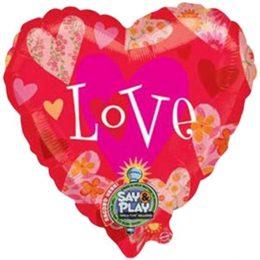 Μπαλόνι Καρδιά που ηχογραφεί μήνυμα 81 εκ
