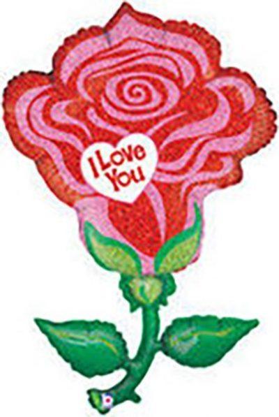 Μπαλόνι Κόκκινο τριαντάφυλλο I love you 119 εκ