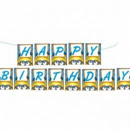 Σημαιάκια Happy Birthday Minions