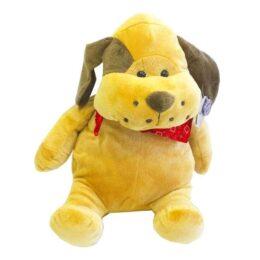 Λούτρινο σκυλάκι με μπαντάνα 33εκ.