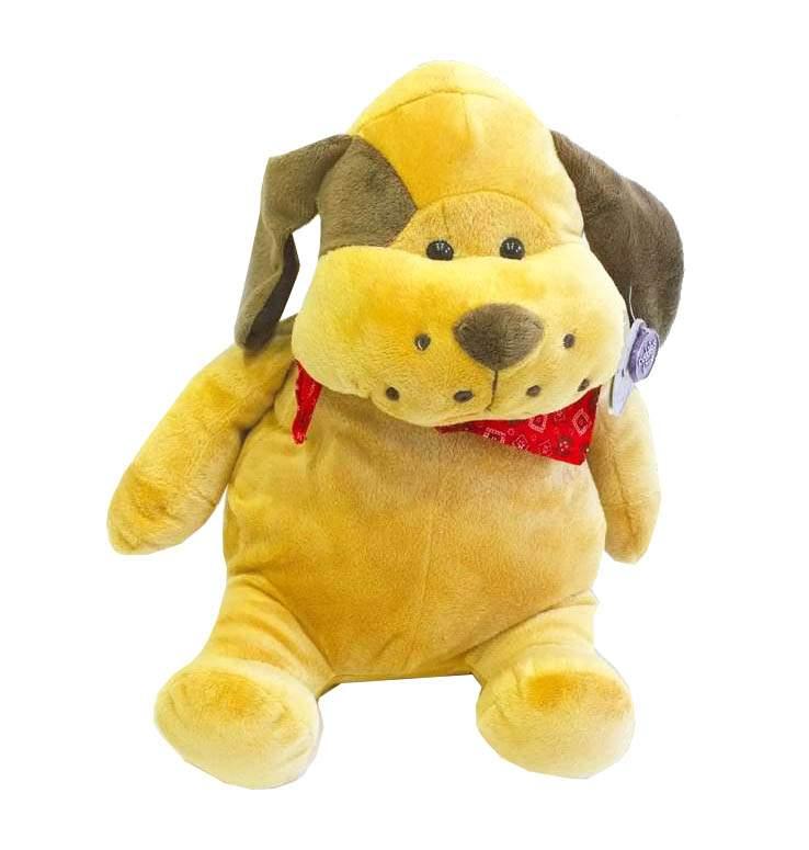 λούτρινο σκυλάκι με μπαντάνα