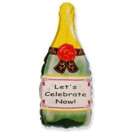 Μπαλόνι μπουκάλι σαμπάνιας Let's Celebrate Now