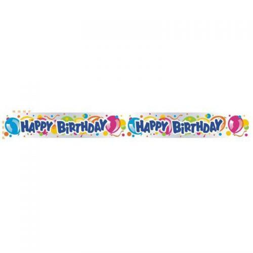 Πλαστικό Banner Happy Birthday 3,66μ