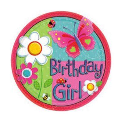 Πιάτα πάρτυ μικρά garden girl (8 τεμ)