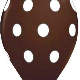 12″ Μπαλόνι σοκολατί με λευκό πουά