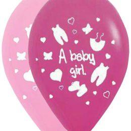 12″ Μπαλόνι A baby girl ρουχάκια