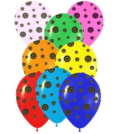 """12"""" Μπαλόνι τυπωμένο Smiley faces"""