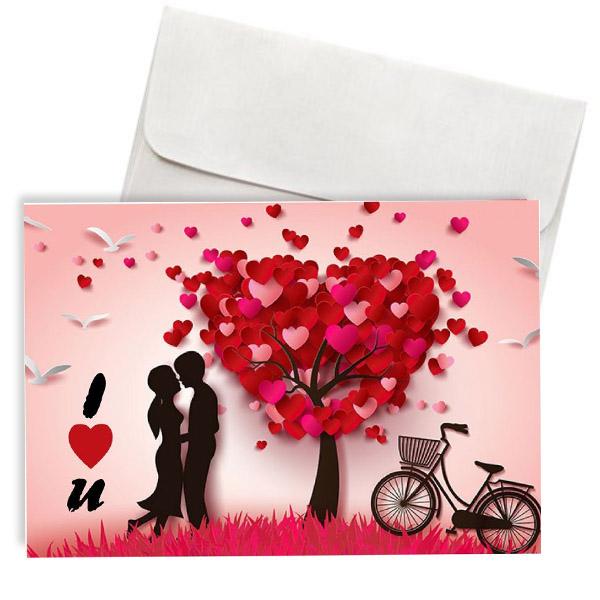 """Κάρτα Αγάπης """"I Love You"""" Δέντρο της αγάπης"""