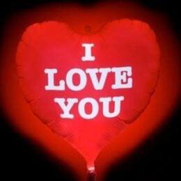 Μπαλόνι καρδιά με φωτάκι LED που αναβοσβήνει