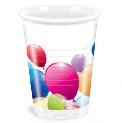 Ποτήρια πάρτυ πλαστικά balloons (8 τεμ)