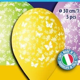 12″ Μπαλόνια Πεταλούδες (5 τεμ)