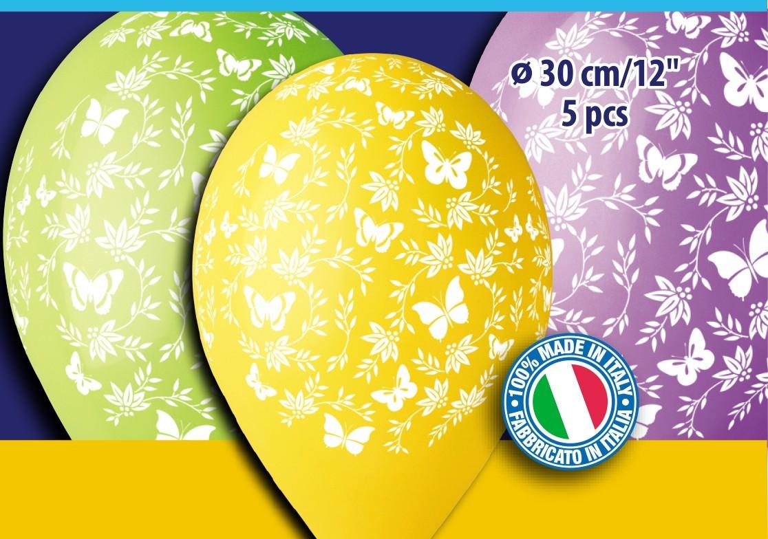 """12"""" Μπαλόνια Πεταλούδες (5 τεμ)"""