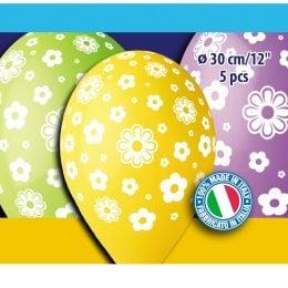 """12"""" Μπαλόνια Μαργαρίτες (5 τεμ)"""