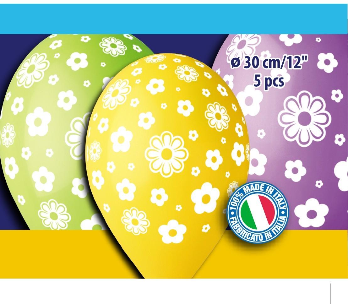 12″ Μπαλόνια Μαργαρίτες (5 τεμ)