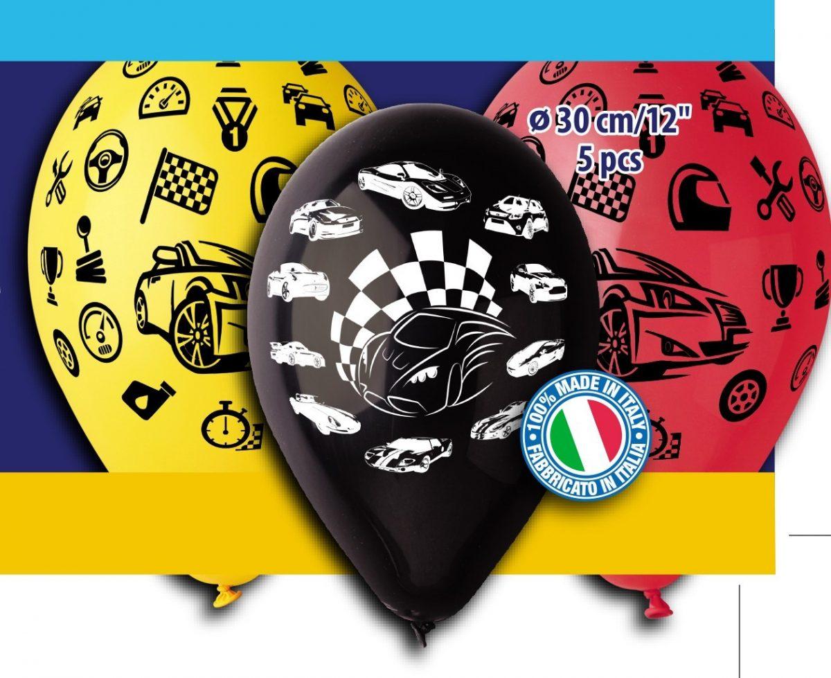 12″ Μπαλόνια Αυτοκινητάκια (5 τεμ)