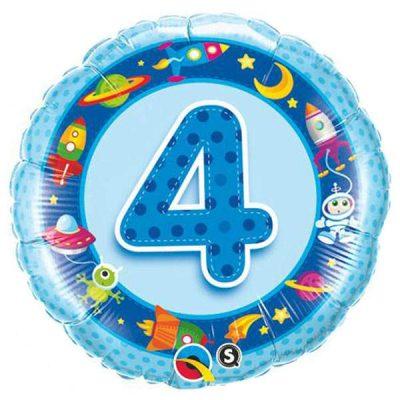Μπαλόνι για γενέθλια νο 4 γαλάζιο