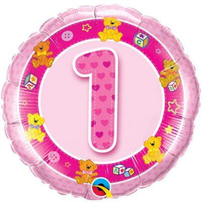 Μπαλόνι για γενέθλια νο 1 ροζ