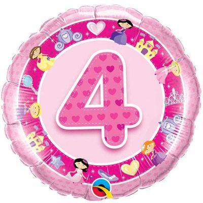 Μπαλόνι για γενέθλια νο 4 ροζ