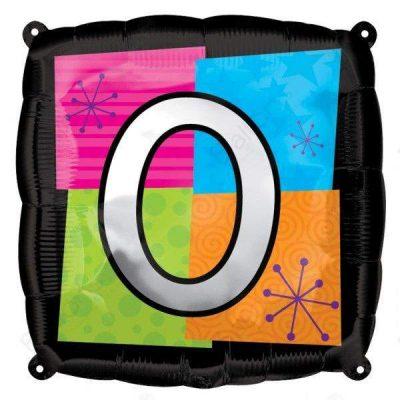 Μπαλόνι τετράγωνο νο 0 για γενέθλια