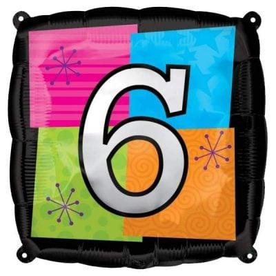 Μπαλόνι τετράγωνο νο 6 για γενέθλια