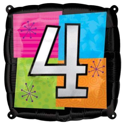 Μπαλόνι τετράγωνο νο 4 για γενέθλια